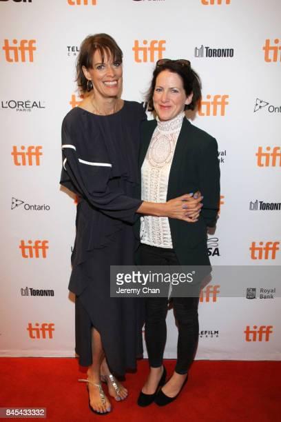 Clio Barnard and Tracy O'Riordan attend the 'Dark River' premiere during the 2017 Toronto International Film Festival at Winter Garden Theatre on...