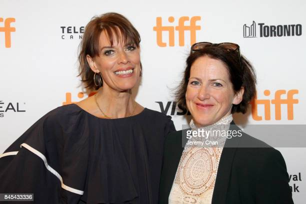 Clio Barnard and Tracy O'Riordan attend the 'Dark River' premiere during the 2017 Toronto International Film Festival at Winter Garden Theatre on...
