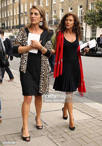 Clio Goldsmith ex wife to Mark Shand attends a memorial service for Mark Shand at St Paul's Church on September 11 2014 in London England