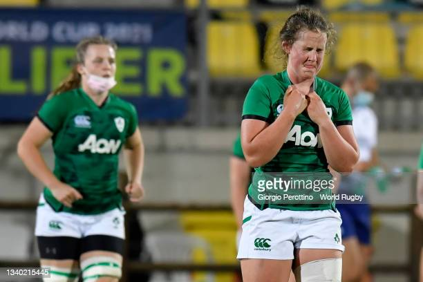 Cliodhna Moloney of Ireland looks dejected during the Rugby World Cup 2021 Europe Qualifying match between Spain and Ireland at Stadio Sergio...
