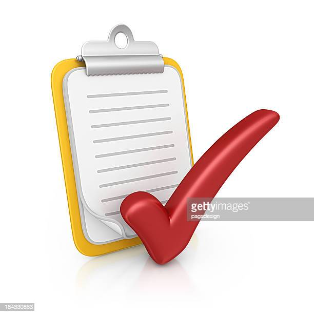 clipboard and checkmark