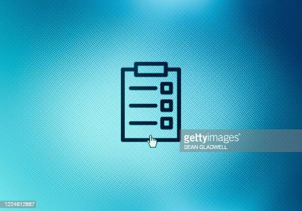 clipboard icon on screen - list stock pictures, royalty-free photos & images