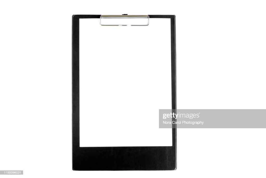 Clipboard on White Background : Stock Photo