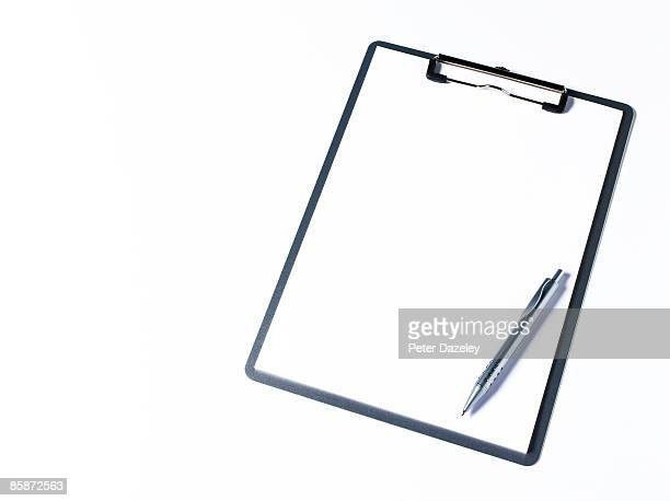 Clipboard on white background.