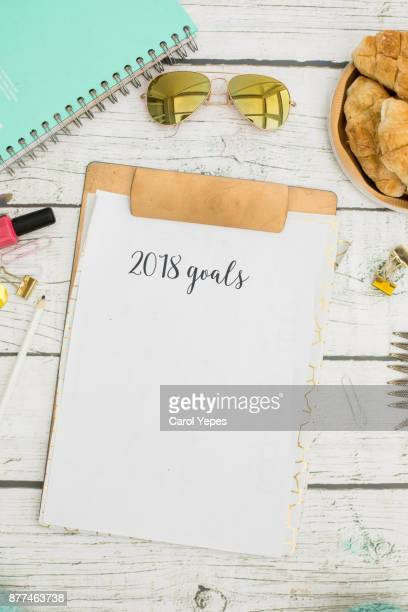 clipboard  with 2018 goals
