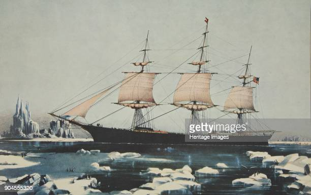 Clipper Ship 'Red Jacket' In the Ice off Cape Horn on her passage from Australia to Liverpool August 1854 pub 1855 Currier Ives