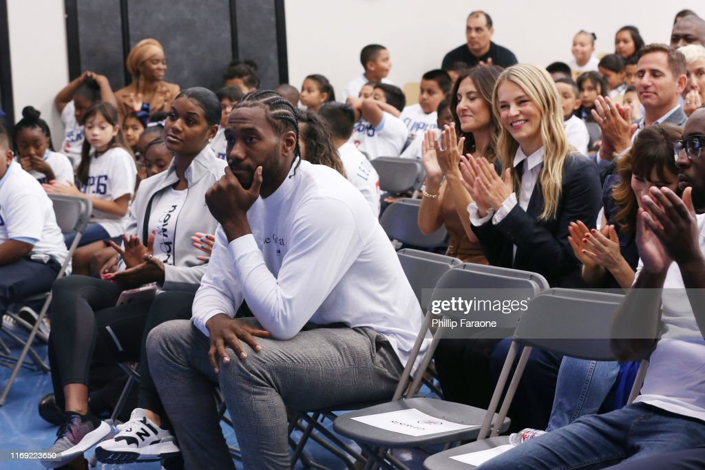 Baby2Baby And Ambassadors Celebrate Donation Of One Million Backpacks From Baby2Baby, Kawhi Leonard And The L.A. Clippers To Students In Los Angeles : News Photo
