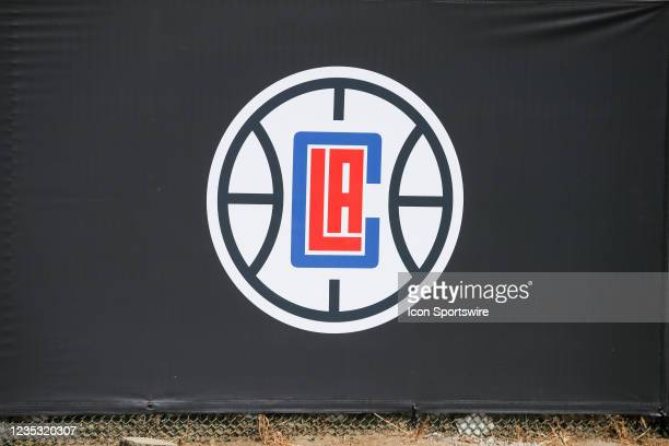 Clippers gate banner during the Los Angeles Clippers Ground breaking Ceremony on September 17 at the Intuit Dome site in Inglewood, CA.