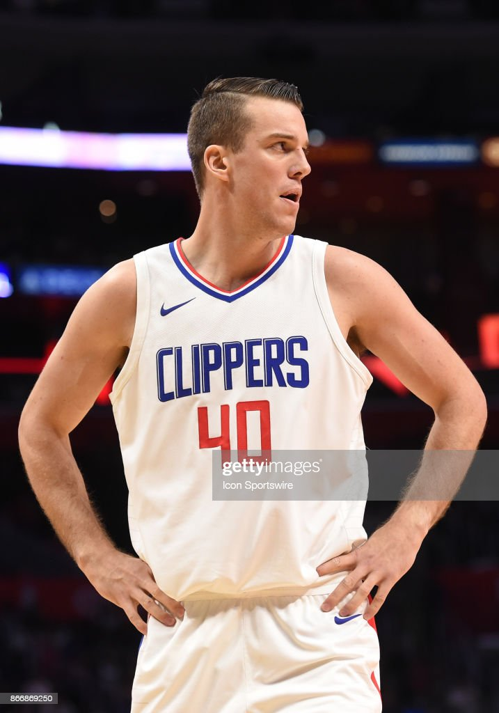 LA Clippers Marshall Plumlee looks on during an NBA