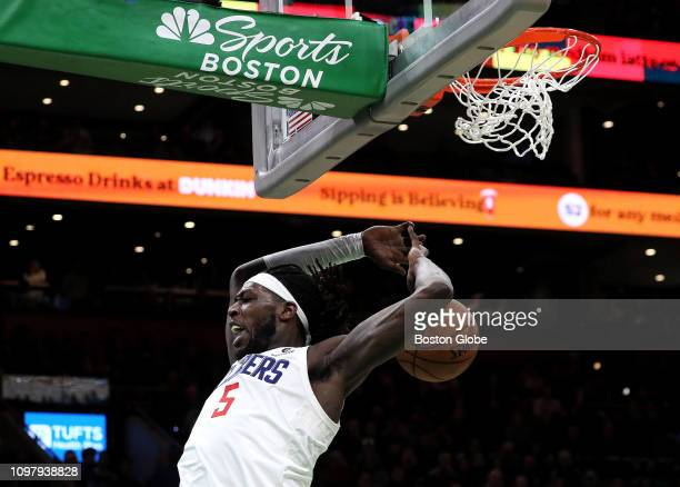 Clippers' Montrezl Harrell dunks for a 114107 lead late in the fourth quarter after stealing the ball from Boston Celtics forward Gordon Hayward The...