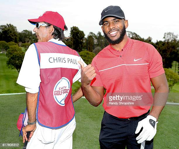 Clippers player Chris Paul attends LA Clippers Foundation Charity Golf Classic on October 24, 2016 in Pacific Palisades, California.