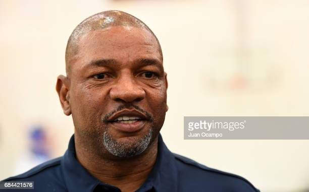 Clippers President of Basketball Operations and head coach Doc Rivers talks during the Los Angeles Clippers announcement of their acquisition of an...