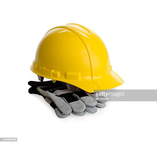 Clipping Path-Hard Hat with Gloves