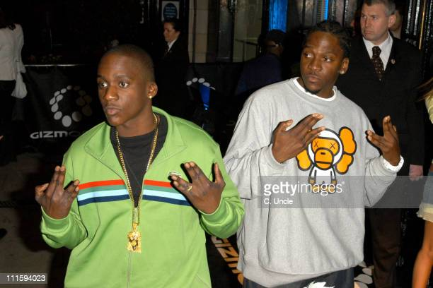 Clipse during Gizmondo Launch Party Arrivals at Sheraton Park Lane Hotel in London Great Britain