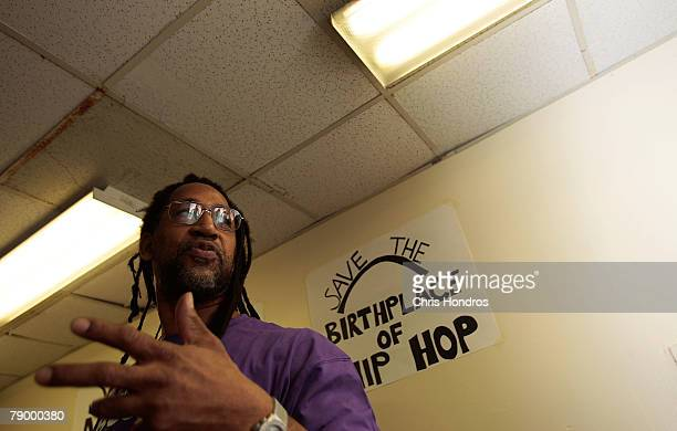 Clive Campbell also known as DJ Kool Herc speaks during a press conference about the fate of 1520 Sedgwick Avenue a building considered by many to be...