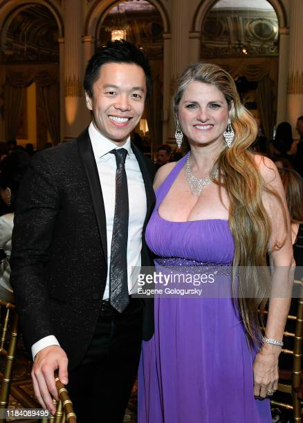 Clive Chang and Bonnie Comley attend the The 36th Annual Drama League Benefit Gala at The Plaza Hotel on October 28, 2019 in New York City.