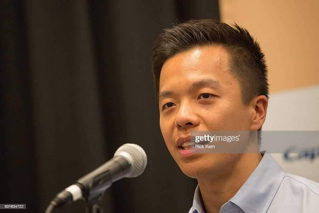 Clive Chang, Director of Strategy & Business Development at Disney Theatrical Group speaks onstage at the 'Keeping Performing Arts Alive in a Digital World' panel during SXSW at the Austin Convention Center on March 13, 2018 in Austin, Texas.