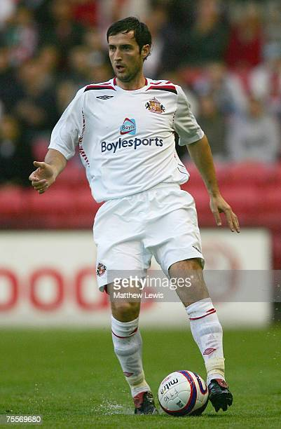 Clive Clarke of Sunderland in action during the PreSeason Friendly match between Darlington and Sunderland at the Darlington Arena on July 18 2007 in...