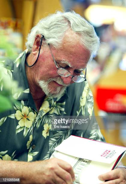 Clive Cussler during Clive Cussler Book Signing at Borders Book Store at Borders Book Store in Santa Barbara California United States