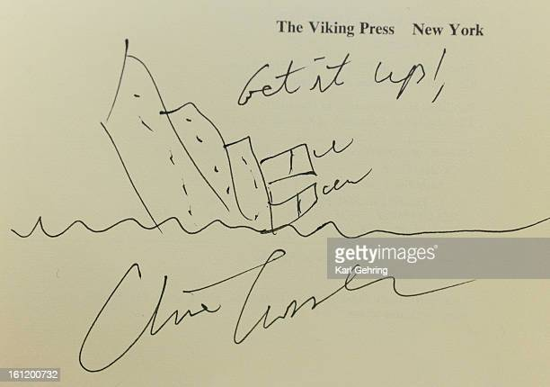 Clive Cussler often draws a sketch of a sinking ship when he autographs copies of one of his most well known novels Raise the Titanic The Clive...