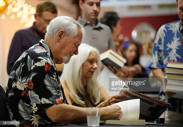 Clive Cussler was accompanied by his wife Janet as he signed books for fans Saturday night The Clive Cussler's Collectors Society met at the Cussler...