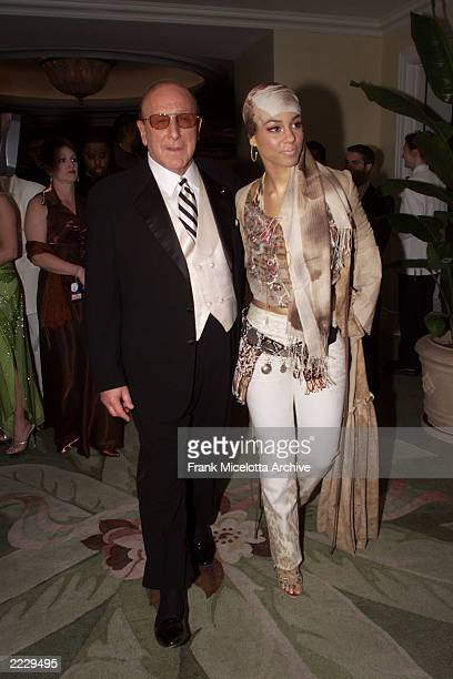 Clive Davis and Alicia Keys at the 27th Annual Clive Davis PreGrammy party at the Beverly Hills Hotel in Los Angeles Ca 2/26/02 Photo by Frank...