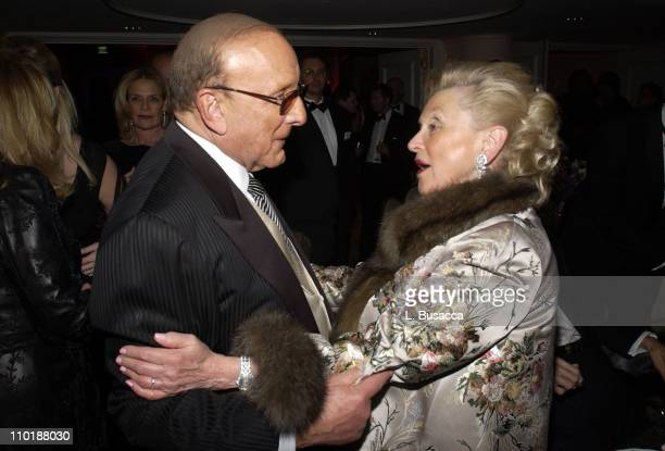Clive Davis and Barbara Davis during 2004 Clive Davis PreGrammy Party Backstage and Audience at Beverly Hills Hotel in Beverly Hills California...