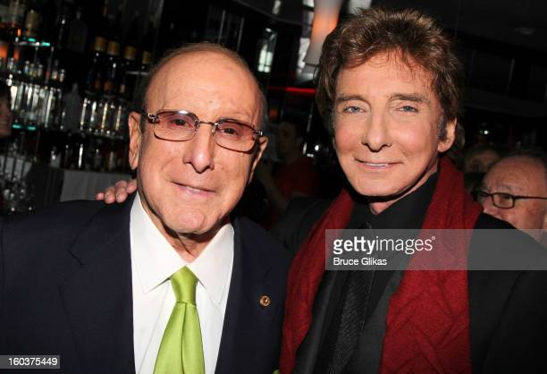 Clive Davis and Barry Manilow attend the after party for the 'Manilow On Broadway' opening night at the Copacabana on January 29 2013 in New York City
