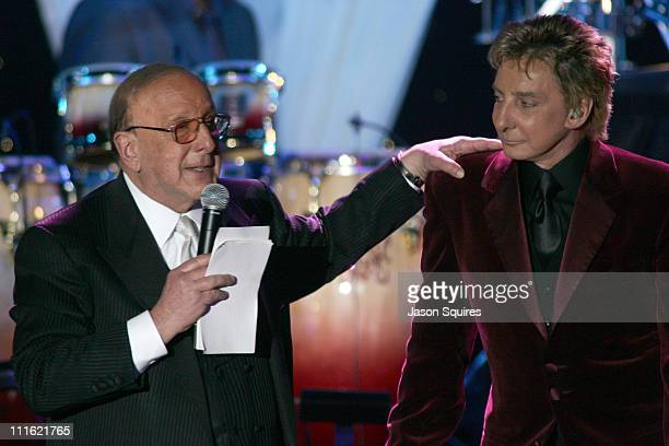 Clive Davis and Barry Manilow during 2006 Clive Davis PreGRAMMY Awards Party Show at Beverly Hilton in Beverly Hills California United States