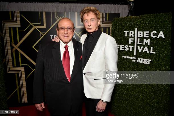 Clive Davis and Barry Manilow pose for a portrait backstage at the Clive Davis The Soundtrack of Our Lives Premiere during the 2017 Tribeca Film...