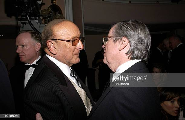 Clive Davis and Bob Daly during 2004 Clive Davis PreGrammy Party Backstage and Audience at Beverly Hills Hotel in Beverly Hills California United...