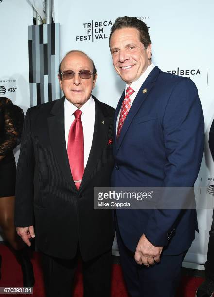 Clive Davis and Governor of New York Andrew Cuomo attend the 'Clive Davis The Soundtrack Of Our Lives' Premiere at Radio City Music Hall on April 19...
