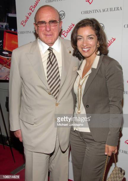 Clive Davis and Guest during Christina Aguilera's NYC Album Release Party August 15 2006 at Marquee in New York City New York United States