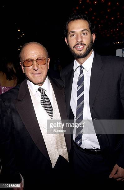 Clive Davis and Guy Oseary during 2004 Clive Davis PreGrammy Party Backstage and Audience at Beverly Hills Hotel in Beverly Hills California United...