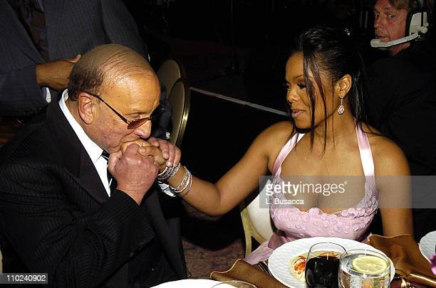 Clive Davis and Janet Jackson during Clive Davis' 2005 PreGRAMMY Awards Party Dinner and Show at Beverly Hills Hotel in Beverly Hills California...