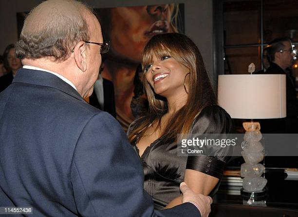 Clive Davis and Janet Jackson during Songs of Hope IV at Esquire House 360° Inside at Esquire House 360° in Beverly Hills California United States