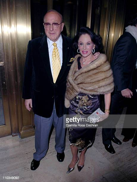 Clive Davis and Nikki Haskell attend La Dolce Vita Benefit for the Sarah Ferguson Foundation at Cipriani Wall Street on November 1st 2007 in New York...