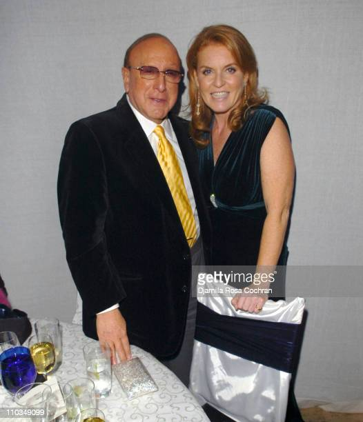 Clive Davis and Sarah Ferguson Duchess of York attends La Dolce Vita Benefit for the Sarah Ferguson Foundation at Cipriani Wall Street on November...