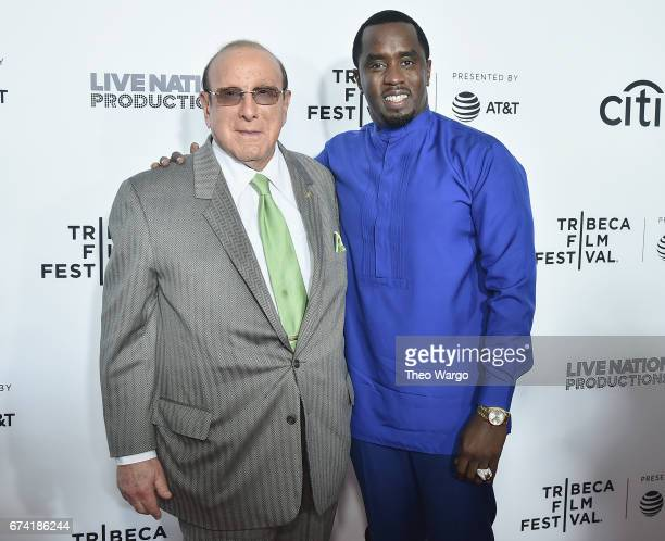 Clive Davis and Sean Combs attend the Can't Stop Won't Stop The Bad Boy Story Premiere on April 27 2017 in New York City