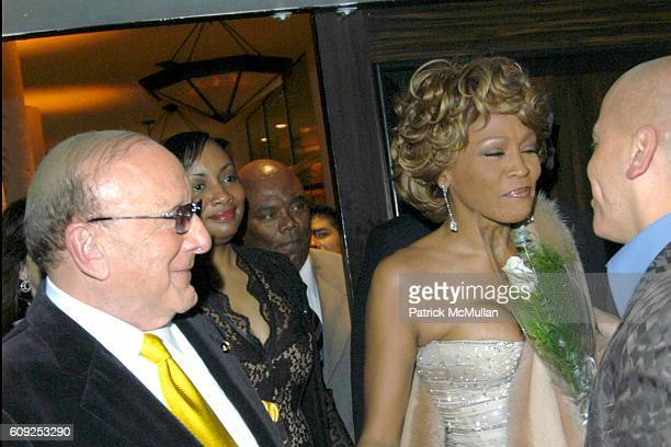 Clive Davis and Whitney Houston attend 2007 Clive Davis PreGRAMMY Awards Party at Beverly Hills Hilton on February 10 2007 in Beverly Hills CA