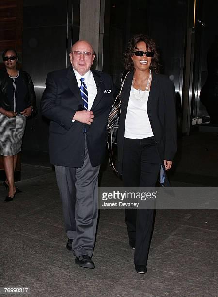 Clive Davis and Whitney Houston leaving Nobu 57 restaurant in New York City on September 24 2007