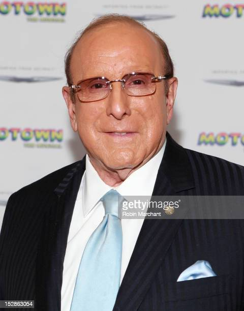 Clive Davis attends Motown The Musical Broadway Spring Launch Event at Nederlander Theatre on September 27 2012 in New York City