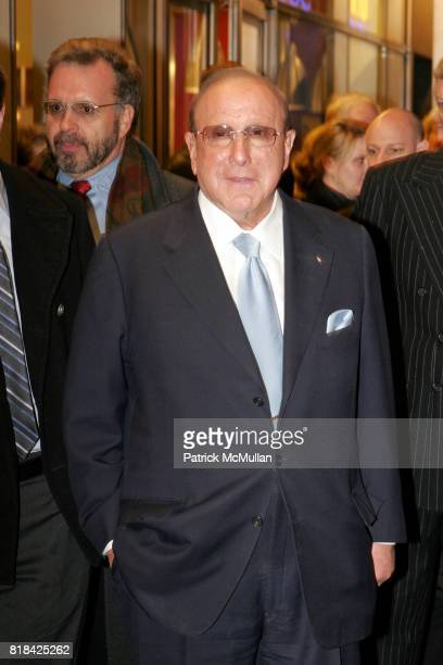 Clive Davis attends Opening Night of Present Laughter at American Airlines Theater on January 21 2010 in New York City