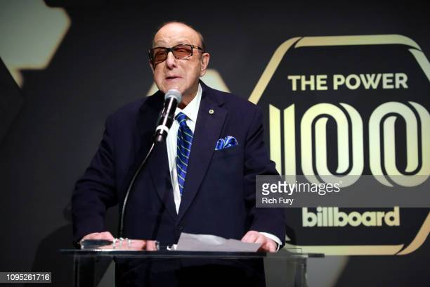 Clive Davis attends the 2019 Billboard Power 100 on February 7 2019 in Los Angeles California