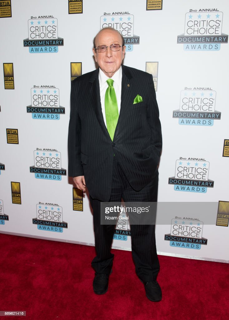 Clive Davis attends the 2nd Annual Critic's Choice Documentary Awards on November 2, 2017 in New York City.