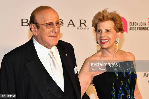 Clive Davis attends the Elton John AIDS Foundation's Annual Fall Gala with Cocktails By Clase Azul Tequila at Cathedral of St John the Divine on...