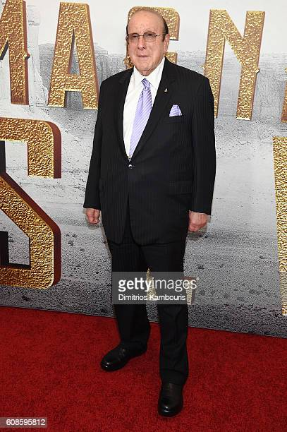 Clive Davis attends The Magnificent Seven premiere at Museum of Modern Art on September 19 2016 in New York City