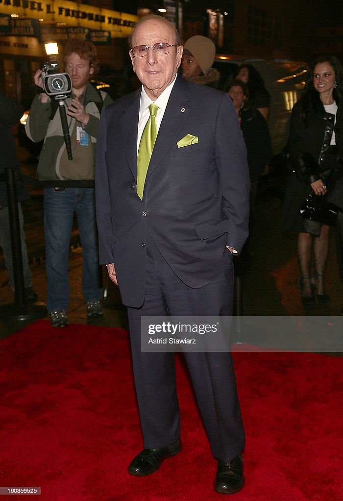 Clive Davis attends the Manilow On Broadway Opening Night After Party at the Copacabana on January 29, 2013 in New York City.