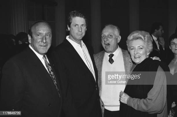 Clive Davis Brian Wilson Tommy Lasorda and Jo Lasorda attend an event circa 1988