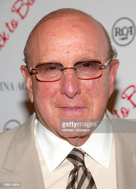 Clive Davis during Christina Aguilera's NYC Album Release Party August 15 2006 at Marquee in New York City New York United States